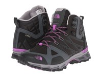 The North Face Ultra Hike Ii Mid Gtx Tnf Black Sweet Violet Women's Hiking Boots