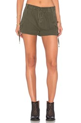Free People Melvin Roll Cargo Shorts Green