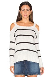 Lamade Kim Cold Shoulder Sweater Black And White