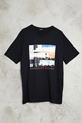 Forever 21 Dangerous Dreams Graphic Tee Black Red