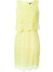 Armani Jeans Lace Mid Length Dress Yellow And Orange