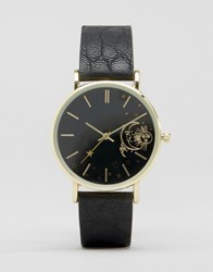 Asos Moon And Star Dial Detail Watch Black