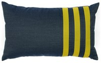 Jiti Denim Echo Stripe Outdoor Pillow