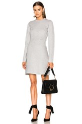 Proenza Schouler Patchwork Knit Dress In Gray