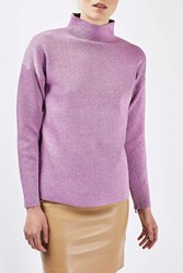 Topshop Funnel Neck Jumper By Boutique Lilac