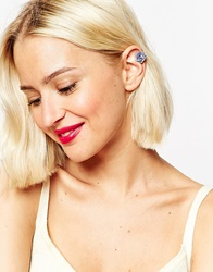 Asos Limited Edition Occasion Flower Anywhere Ear Cuff Lilac