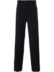 System Homme Wide Leg Trousers Blue