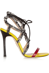 Chelsea Paris Sosa Elaphe And Leather Sandals Black