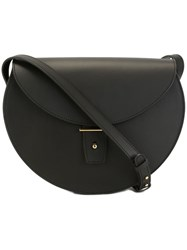 Pb 0110 Flap Round Medium Crossbody Bag Black