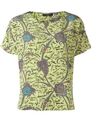 Etro Printed T Shirt Green