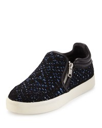 Ash Intense Bis Sequined Skate Sneaker Black Blue