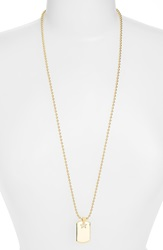 Rebecca Minkoff Long Dog Tag Pendant Necklace Gold