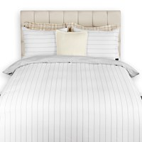 Gant Twill Stripe Duvet Cover Elephant Grey Double