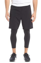 Adidas Men's 'Team Issue' 2 In 1 Running Tights And Shorts
