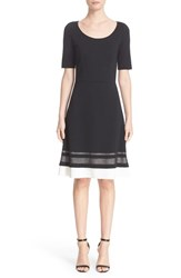 St. John Women's Collection Sheer Stripe Milano Knit Dress