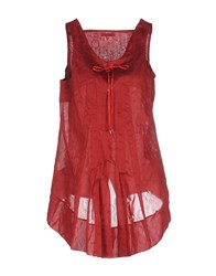 Marithe' F. Girbaud Marithe Francois Girbaud Dresses Short Dresses Women Maroon