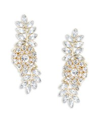 Design Lab Lord And Taylor Crystal Cluster Drop Earrings Gold