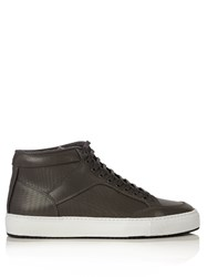Etq High 1 Leather Trainers Grey