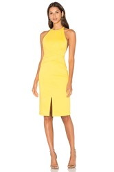 Lavish Alice Wrap Front Plunge Back Detail Mini Dress Yellow