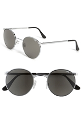 Randolph Engineering 'P3 Retro' 49Mm Sunglasses Bright Chrome Grey