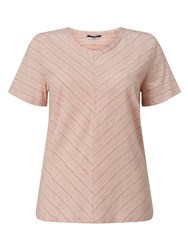Dash Coral Relaxed V T Shirt Blue