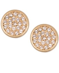 Lonna And Lilly Mixed Metal Pave Disc Stud Earrings