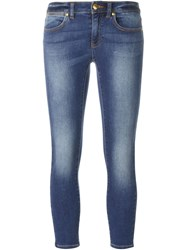 Michael Michael Kors Cropped Skinny Jeans Blue