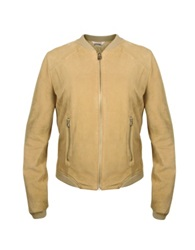 Forzieri Women's Light Brown Suede Zip Jacket