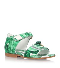Dolce And Gabbana Palm Print Sandals Unisex