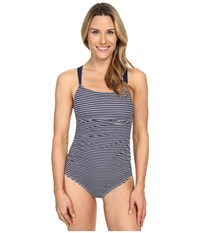 Carve Designs Avalon Full Piece Anchor Stripe Women's Swimsuits One Piece Gray