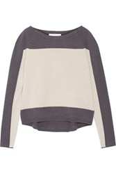Duffy Two Tone Cashmere Sweater Off White