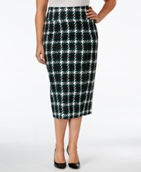 Melissa Mccarthy Seven7 Trendy Plus Size Plaid Pencil Skirt Pine Grove Houndstooth