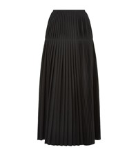 Stella Mccartney Pleated Wool Long Skirt Female Black