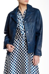 Marc By Marc Jacobs Boxy Genuine Leather Jacket