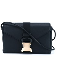 Christopher Kane Safety Buckle Shoulder Bag Black