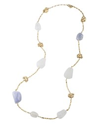Carolee Agate Station Necklace 36 100 Bloomingdale's Exclusive Blue