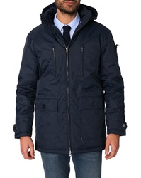Menlook Label Dick Navy Parka
