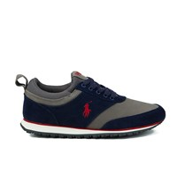 Polo Ralph Lauren Men's Ponteland Suede Sports Trainers Newport Navy Charcoal Grey