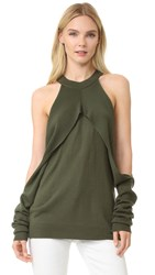 Dion Lee Sleeveless Release Sweater Army
