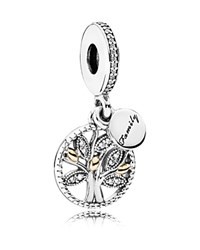 Pandora Design Pandora Dangle Charm 14K Gold Sterling Silver And Cubic Zirconia Family Heritage Moments Collection