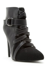 Qupid Virtue Lace Up High Heel Pump Black