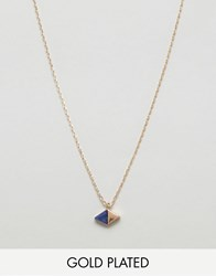 Ny Lon Nylon Gold Plated Crystal Necklace Gold Plated