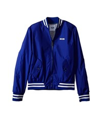 Moschino Kids Nylon Bomber Jacket Big Kids Royal Blue Men's Coat