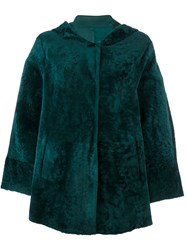 Drome Hooded Cape Coat Green