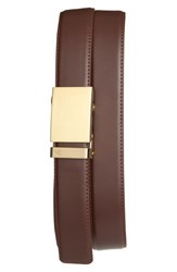 Men's Mission Belt 'Gold' Leather Belt Gold Chocolate