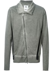 Lost And Found Rooms Asymmetric Zip Jacket Grey