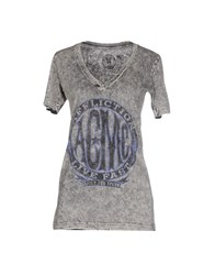 Affliction Topwear T Shirts Women Grey