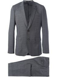 Paul Smith Checked Suit Grey