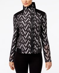 Inc International Concepts Lace Moto Jacket Only At Macy's Washed White