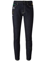 Mira Mikati Embroidered Rocket Skinny Jeans Blue